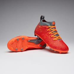 Chaussure de football enfant terrains secs Agility 900 FG rouge