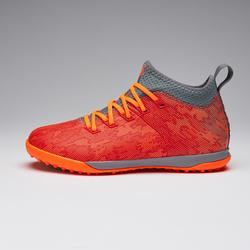 兒童款人造草高筒足球鞋AGILITY 900 HG - 紅橘配色