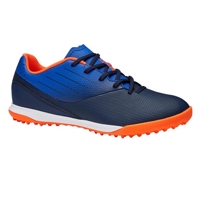 兒童款人造草足球鞋AGILITY 500 HG-軍藍色/藍色