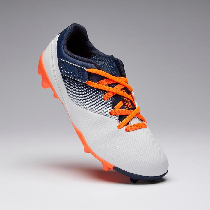 兒童款魔鬼氈足球鞋Agility 500 MG-灰色/軍藍色