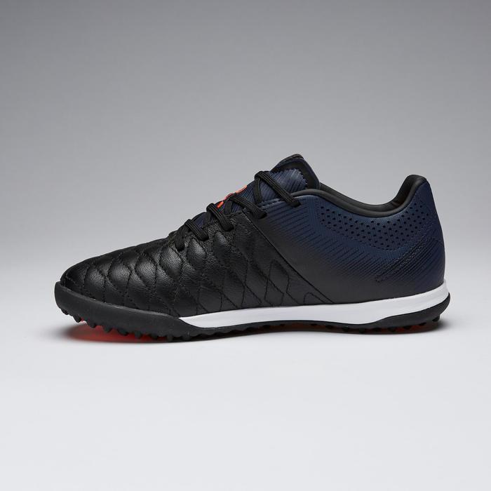 兒童款人造草足球鞋AGILITY 540 HG-黑色和軍藍配色