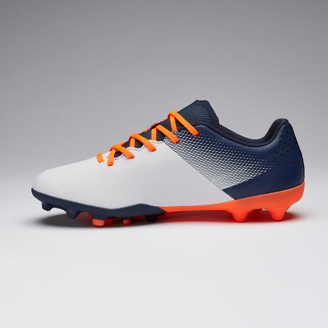 Kids' Football Boots Agility 500 MG - Grey/Navy