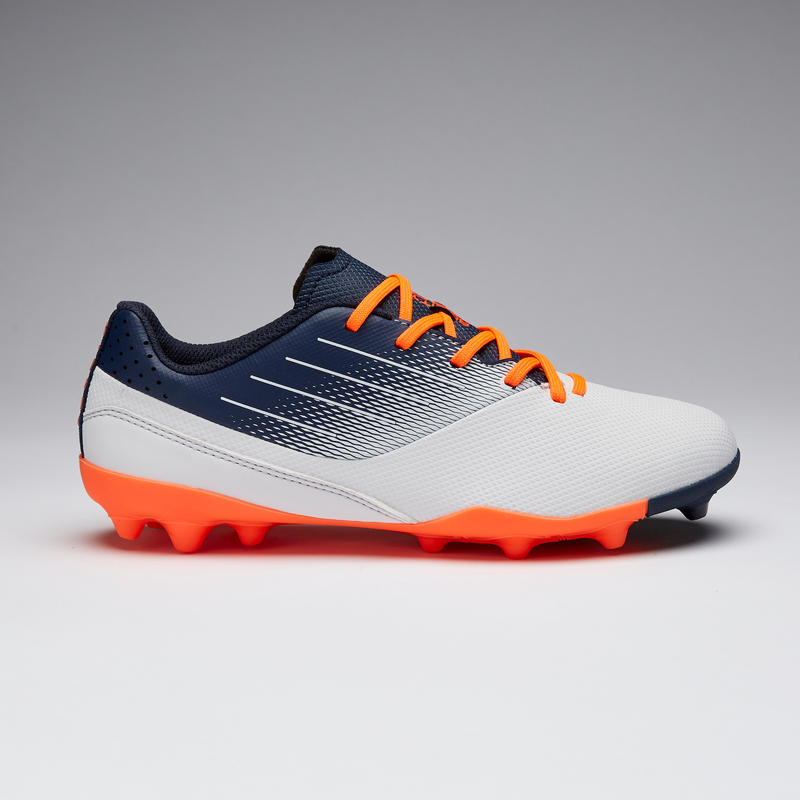 Agility 500 MG Kids' Dry Pitch Low-Top Football Boots - Grey/Navy