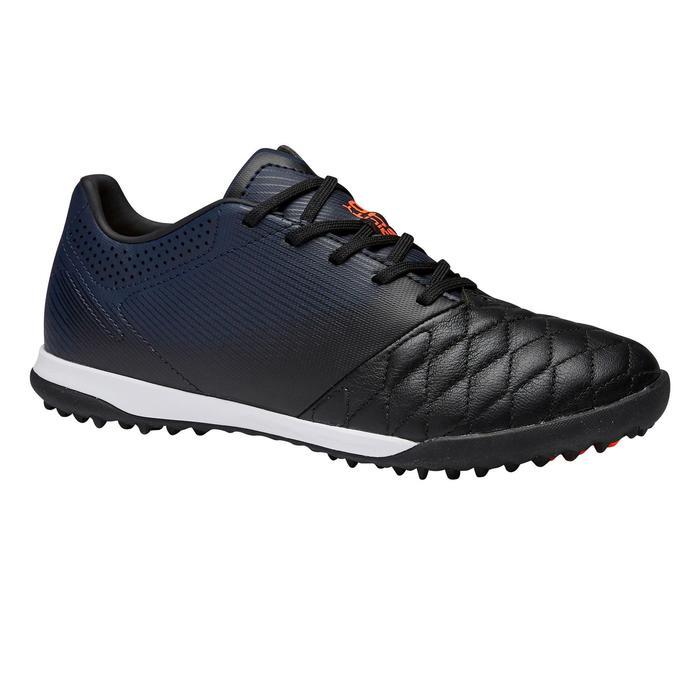 兒童款硬地足球鞋Agility 540 HG-黑色和軍藍配色