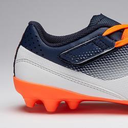 Voetbalschoenen voor kinderen met klittenband Agility 500 MG grijs en marine