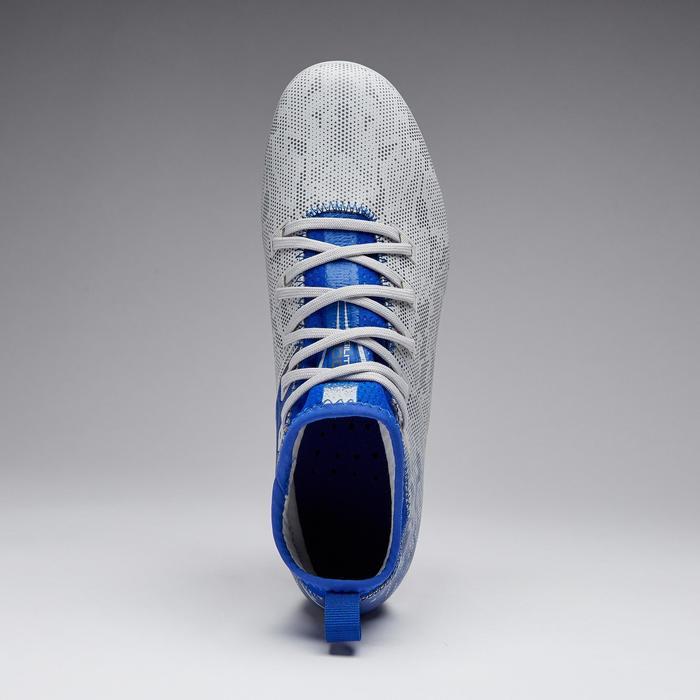 Voetbalschoenen Agility 900 FG voor droog terrein, kinderen, grijs en blauw