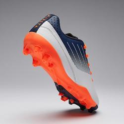 Chaussure de football enfant terrain sec AGILITY 500 MG basse grise et marine