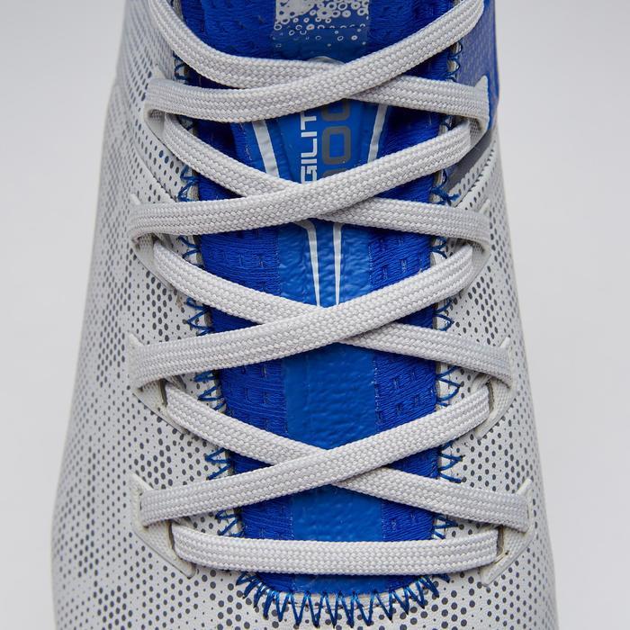 Voetbalschoenen kind Agility 900 MID FG grijs/blauw