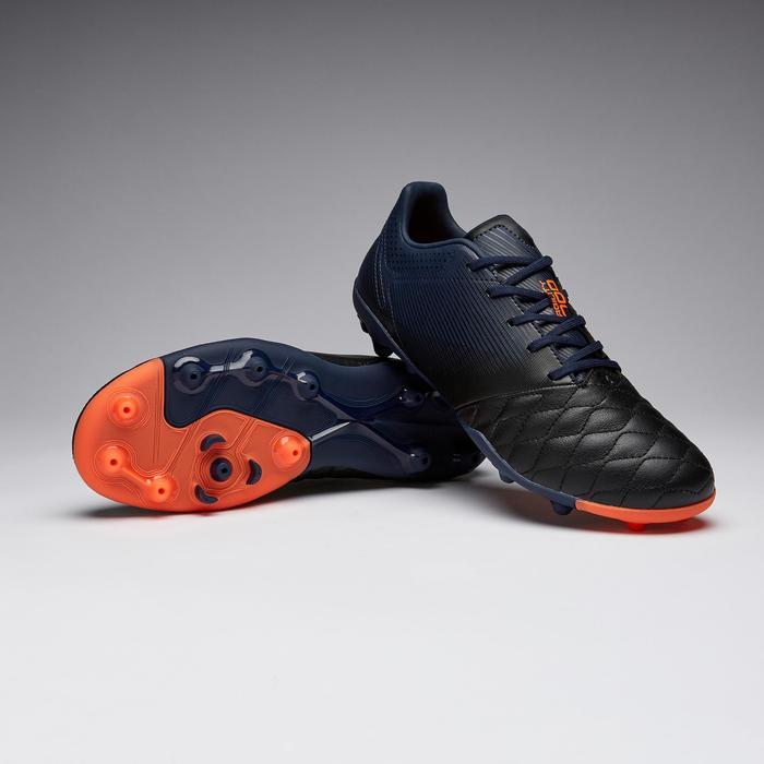 Chaussure de football enfant AGILITY 540 MG empeigne cuir bleu marine