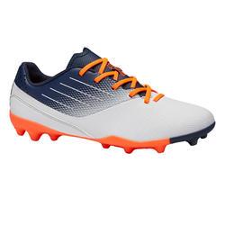 Botas de Fútbol Kipsta Agility 500 MG caña baja niños gris y naranja