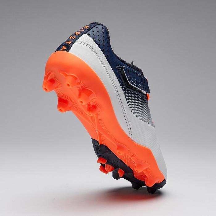 Agility 500 MG Kids' Rip-Tab Football Boots - Grey/Navy Blue