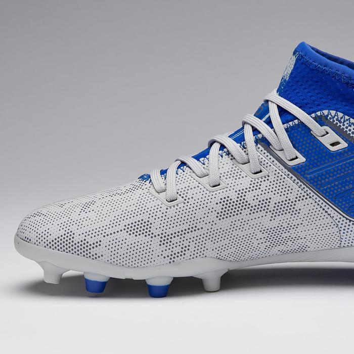 Chaussure de football enfant terrains secs Agility 900 FG JR grise et bleue