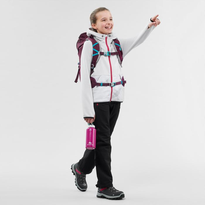 Fleece vest voor wandelen kinderen MH500 grijs/wit 7-15 jaar