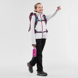 Polaire de randonnée enfant MH500 gris blanc 7- 15 ans