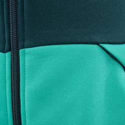 Kids' 7-15 Years Hiking Fleece MH500 - Green Print