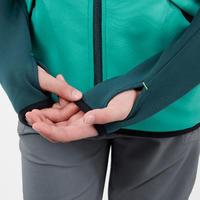 Polaire de randonnée enfant MH500 vert imprimé 7- 15 ans