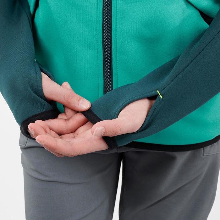 Polaire de randonnée enfant MH500 vert print 7- 15 ans