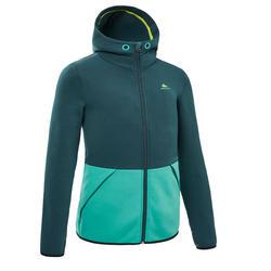Fleece vest voor wandelen kinderen MH500 groen/print 7-15 jaar