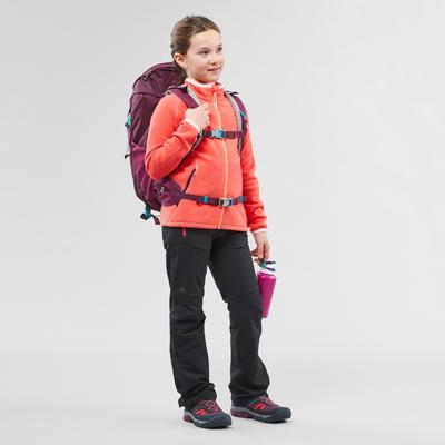 Veste polaire de randonnée - MH150 corail - enfant 7-15 ans