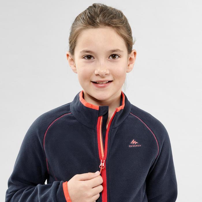 Veste polaire randonnée enfant MH150 bleu marine 7-15 ans