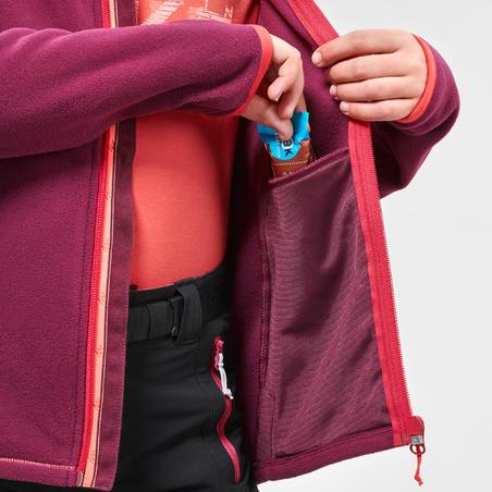Kids' Hiking Fleece Jacket MH150 7-15 Years - Purple