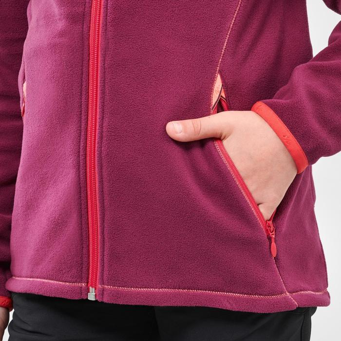 Veste polaire randonnée enfant MH150 violette 7-15 ans