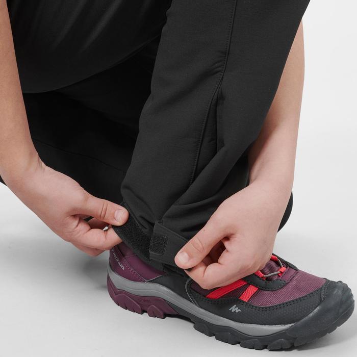 7至15歲兒童款健行長褲MH50-黑色
