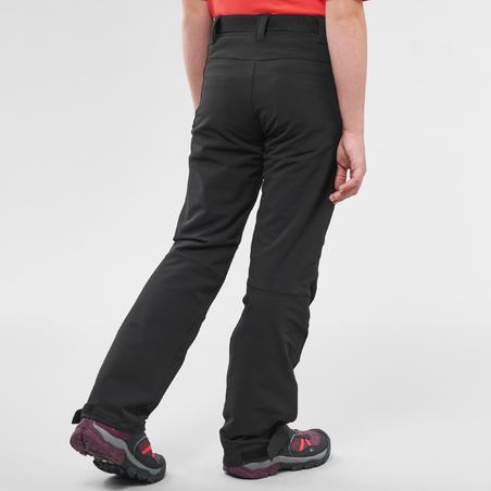 Дитячі штани MH500 для гірського туризму, для дітей 7-15 років - Чорні