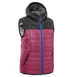 Kids' 7-15 Years Hiking Sleeveless Jacket MH500 - purple