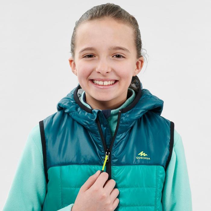 Wattierte Weste Wandern MH500 Kinder 123-166cm grün/türkis