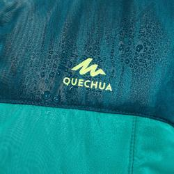 Gewatteerde bodywarmer voor wandelen kinderen MH500 groen/turquoise 7-15 jaar