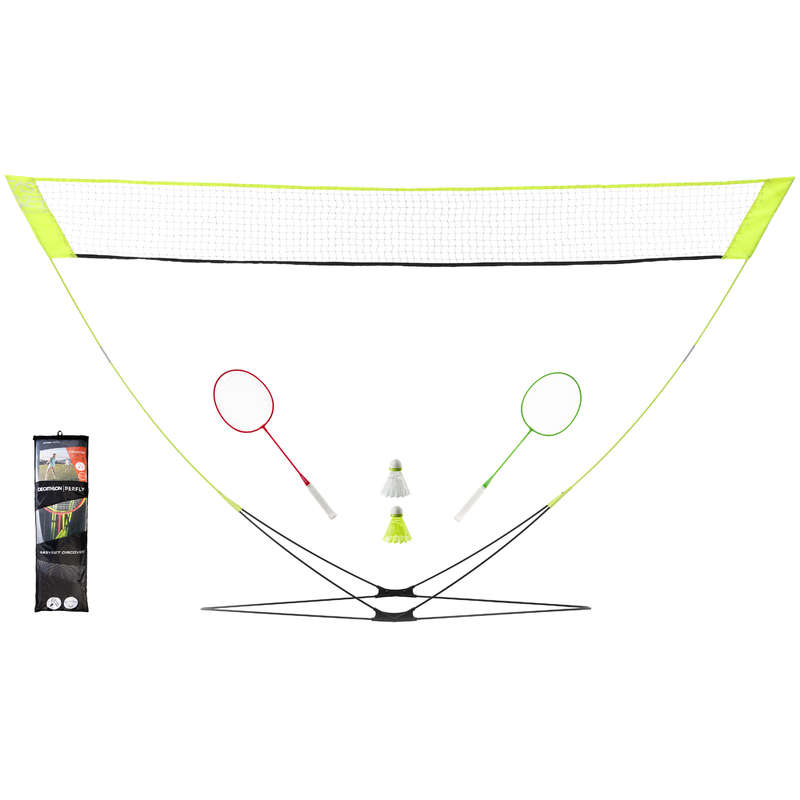BADMINTON OUTDOOR Sport di racchetta - Kit EASY SET DISCOVER giallo PERFLY - BADMINTON
