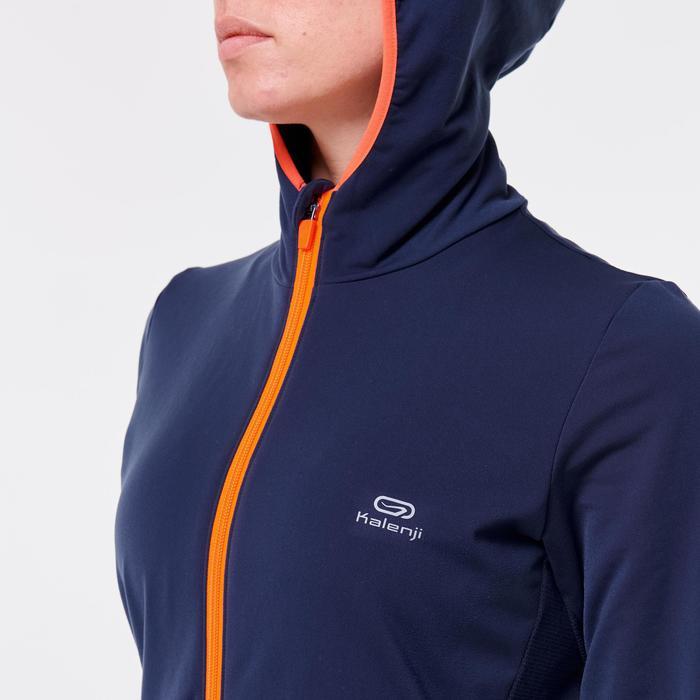 Warm atletiekjack voor dames marineblauw