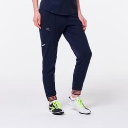 Pantalón Largo Deportivo Running Kalenji Atletismo Mujer Azul/Naranja