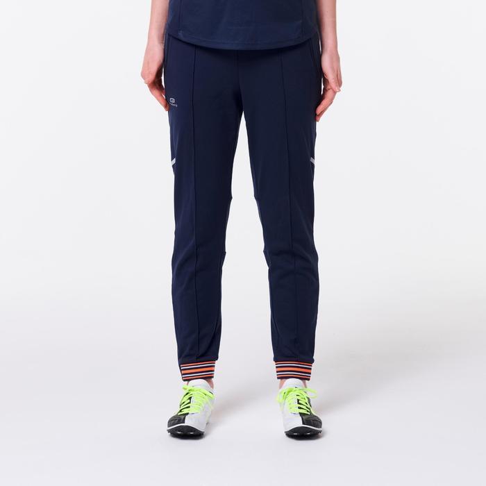 Atletiekbroek voor dames blauw/oranje