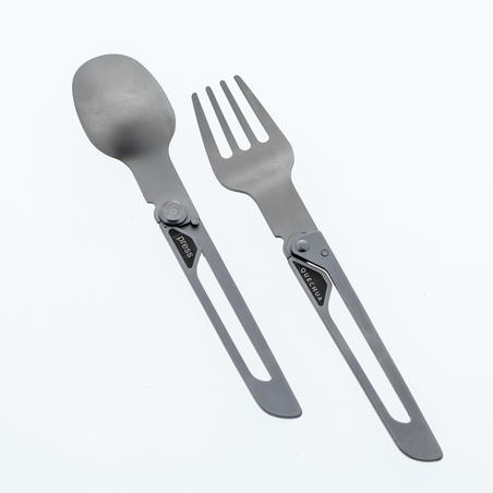 MH500 Folding Stainless Steel Hiking and Camping Cutlery (Fork, Spoon)