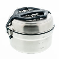 MH500 Stainless Anti-Stick Hiking Camp Cookset 2P