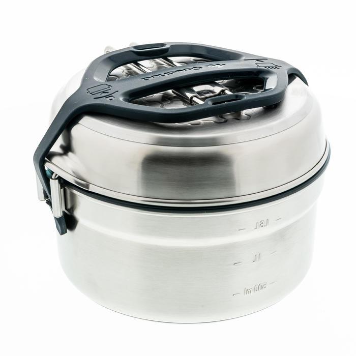 Kochset MH500 Inox-Edelstahl mit Antihaftbeschichtung 2 Personen 2,1L