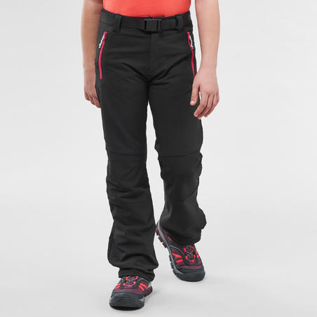 Kids' Hiking Trousers - MH500 Aged 7-15 - Black
