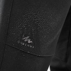 7至15歲兒童款健行長褲MH500-黑色