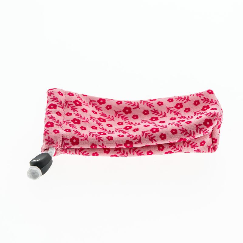 Brillenhoesje in stof voor zonnebril peuter en kind 140 roze