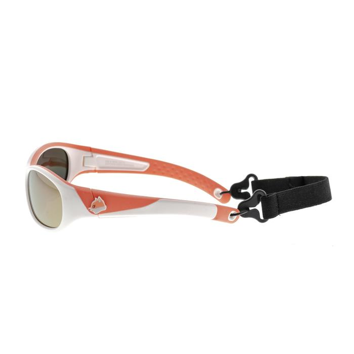 Children's Cat. 4 hiking sunglasses (5-6 years) MH K140 - White/Orange