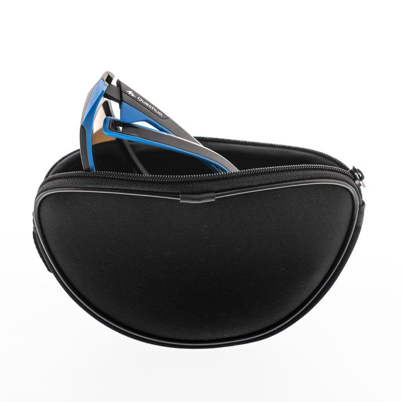 Mountain Hiking Semi-rigid neoprene case for glasses - CASE 500 - black