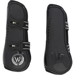 2 open pees- + 2 kogelbeschermers Premium ruitersport paard zwart - 167233