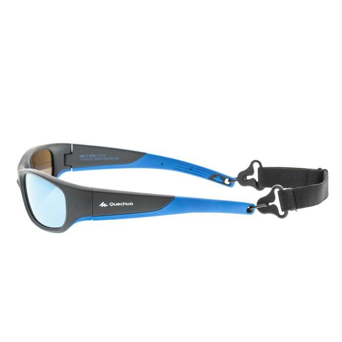 Kids' Category 4 Hiking Sunglasses (Ages 9-11 Years) MH T550 - Black/Blue
