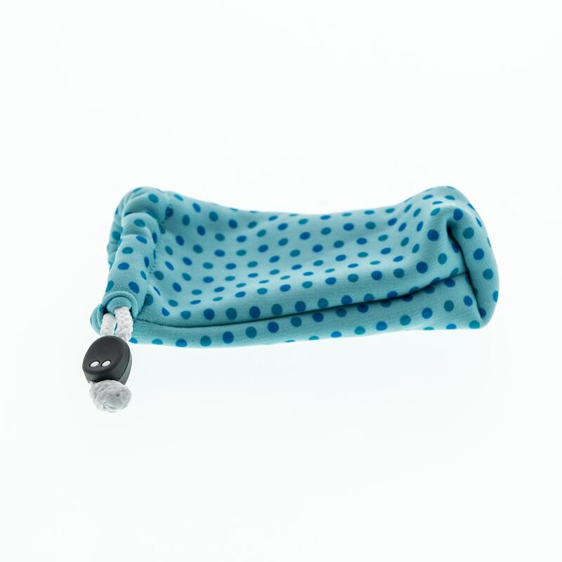 Brillenhoesje in stof voor zonnebril peuter en kind 140 blauw
