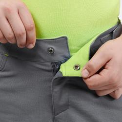 Pantalon de randonnée enfant MH500 gris 7- 15 ans