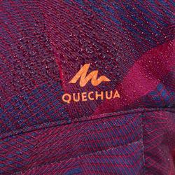7到15歲兒童款健行鋪棉外套MH500-紫色
