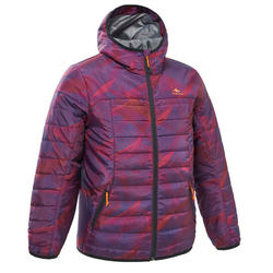 Kids' 7-15 Years Hiking Padded Jacket MH500 - Purple