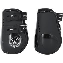 2 open pees- + 2 kogelbeschermers Premium ruitersport paard zwart - 167238